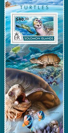 Post stamp Solomon Islands SLM 15203 bTurtles (Eretmochelys imbricata)