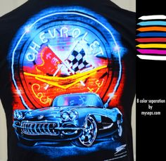 """Corvette """"neon"""" 8 color separation by myseps for Wicked Metal"""