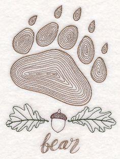 Animal Tracks - Bear (Vintage)
