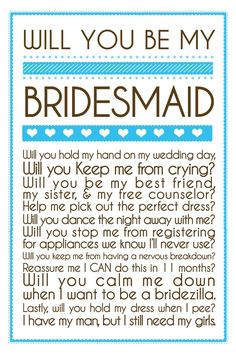 will you calm me down when i start to become a bridezilla?