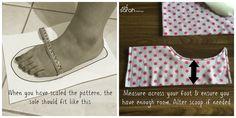 Resultado de imagem para sewing slippers