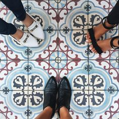 """Aimee Song on Instagram: """"Pretty tiles and pretty shoes."""""""