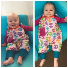 I made this baby romper suit using the Wild Things - Funky little things to sew book. Adapted the leg cuffs to jersey, rather than frills. Check the book out https://www.amazon.co.uk/Wild-Things-Funky-Little-Clothes/dp/0297871250