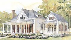 Detached master bedroom Cottage Of The Year - Coastal Living | Southern Living House Plans. I love the exterior & the separate master suite
