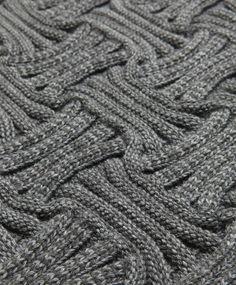 TOKIO • Knitted rug • col. African Grey • PREORDER TODAY — design Pauline Gorelov #rug #carpet #knitting #structure #texture #pattern #decoration #homeaccessories #design