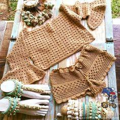 Fabulous Crochet a Little Black Crochet Dress Ideas. Georgeous Crochet a Little Black Crochet Dress Ideas. Crochet Romper, Diy Crochet Bikini, Crochet Pants, Crochet Bodycon Dresses, Black Crochet Dress, Crochet Clothes, Crochet Baby, Knit Crochet, Shorts E Blusas