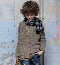 Kid fashion #boy #oversized #cardigan #scarf #denim #jeans