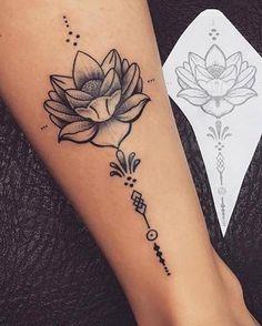 tattoo lotus flower, tattoo on ankle woman, lotus flower open on white - Tattoos - Tatuajes Mini Tattoos, Cute Tattoos, Unique Tattoos, Beautiful Tattoos, Small Tattoos, Tatoos, Lotusblume Tattoo, Unalome Tattoo, Ankle Tattoo