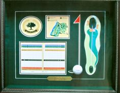 So cool! Father's Day gift idea or any lucky golfer's dream - Hole In One Shadowbox.