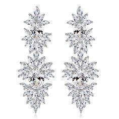 Jewelry & Watches Dependable Mecresh Luxury Statement Wedding Tassel Earring Big Crystal Bridal Earring