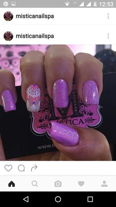 Pedicure Nail Designs, Pedicure Nails, Pretty Nail Designs, Pretty Nail Art, Bling Nails, My Nails, Hello Nails, Feather Nail Art, Purple Nail Art