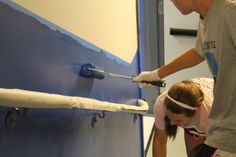 Painting the Walls and Stairwells at St. Ignatius Middle School in the South Bronx - August 2014