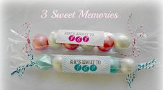 bubblegum baby shower | 10 Baby Shower Bubble Gum Favors She's About to by 3SweetMemories