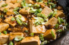 Mapo tofu is a justly popular menus item in many Chinese restaurants. It is a quickly cooked dish of braised tofu with minced pork (sometimes beef) in a bracing spicy sauce made with fermented black beans and fermented broad bean paste, along with hot red pepper and Sichuan pepper. This meatless version with fresh shiitake mushrooms is completely satisfying, and surprisingly easy to make. For the best texture, use soft tofu rather than firm, taking care to cook it gently to keep it from…