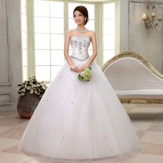 Find More Wedding Dresses Information about 2015 new hot sale  luxury sexy backless elegant  beach  sweetheart  lace plus size white beading wedding dress strapless,High Quality wedding hair dress,China wedding party dresses Suppliers, Cheap dress shoes wedding from Playful beauty department store on Aliexpress.com