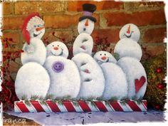 Snowmen Parade E-Pattern