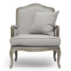 Baxton Studio Constanza Classic Antiqued French Accent Chair | Overstock.com Shopping - The Best Deals on Chairs