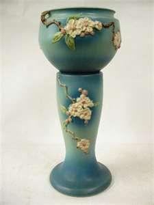 Roseville pottery jardiniere & pedestal