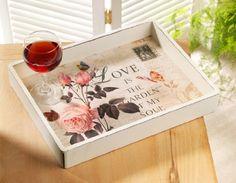 Zauberhaftes Landhaus Tablett, im Shabby Chic Stil,rosa ROSE, 35 cm,french chic Handelskontor Jeanette Ahlring http://www.amazon.de/dp/B00AZJ9YGC/ref=cm_sw_r_pi_dp_sDGzvb12CDVFB