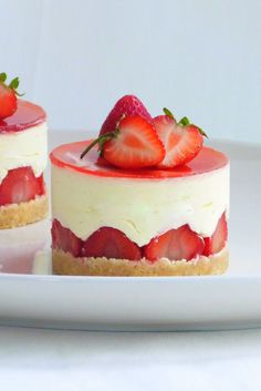 These beautiful strawberry and elderflower fraisiers are as delicious as they are pretty . The post These beautiful strawberry and elderflower fraisiers are as delicious as they ar appeared first on Daisy Dessert. Fraisier Recipe, Cake Recipes, Dessert Recipes, Great British Chefs, Fancy Desserts, Elderflower, Pavlova, Mini Cakes, Cookies Et Biscuits