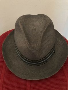 14ea957866f49 Men s dressings · Dobbs 5th Ave New York Fedora Hat With Vintage Ribbon  Size 7 1 8