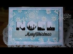 Alphabet Christmas card (card-making-magic.com) - YouTube. This is a pretty long, drawn out video but I do like the effective of showing the stamped image through the die cut letters