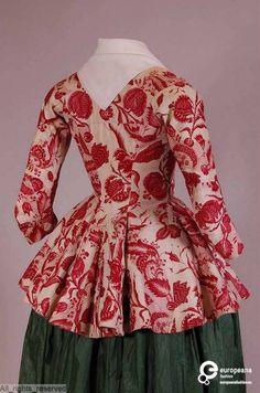 (Mostly Dutch) Atelier Nostalgia — century Chinz jackets. (Mostly Dutch) 18th Century Dress, 18th Century Costume, 18th Century Clothing, 18th Century Fashion, 14th Century, Retro Mode, Mode Vintage, Vintage Dresses, Vintage Outfits