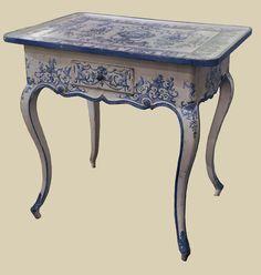 escritorio azul
