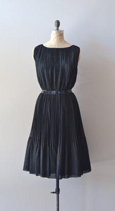 vintage 1960s dress / black 60s dress / Themis dress by DearGolden, $128.00