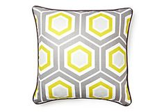 palm spring pillow, yellow