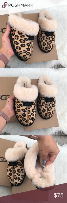 UGG authentic scuffette calf hair leopard sz 9 New UGG authentic scuffette calf hair leopard sz 9 New 100% authentic! Itemcloset#docua UGG Shoes