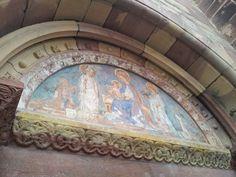 Fresco of Our Lady in the cathedral of Freiburg, Breisgau
