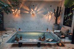 Home Interior Design, Exterior Design, Interior Architecture, Interior And Exterior, Small Backyard Pools, Backyard Pool Designs, Outdoor Spaces, Outdoor Living, Kleiner Pool Design