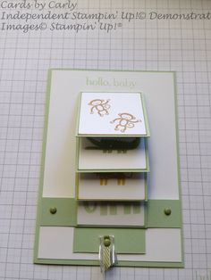 Zoo Babies Waterfall Card. Cards by Carly - Pakenham. Independent Stampin' Up! Demontrator.