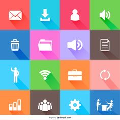 Free flat icons design Free Vector