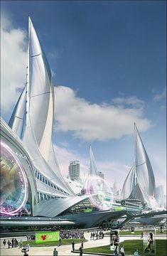 Futuristic Architecture - in the not too distant future. #architecture ☮k☮