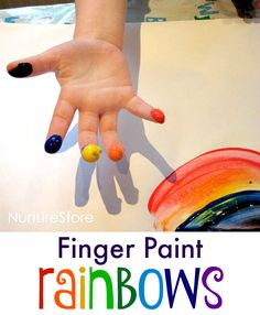 Rainbow finger paint