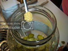 Sweet & Spicy Pickles - Newlyweds Spicy Pickle Recipes, Spicy Pickles, Tuna Salad, Sweet And Spicy, Newlyweds, Oatmeal, Sandwiches, Breakfast, Food