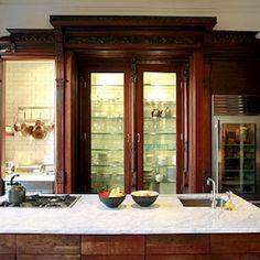 Amazing repurposed kitchen by Martha Stewart's editor, Pilar Guzman. I'm trying to  duplicate her brownstone's gorgeous kitchen. Photo NYT