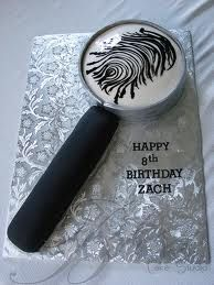 magnifying glass cake