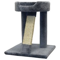 Wood Sisal Cat Scratching Post Bed Cat Perch, Gray Carcat >>> Check this awesome image  : Cat Beds and Furniture