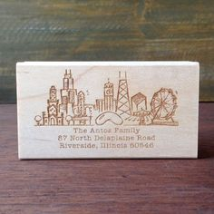 Chicago Illinois Custom Return Address Stamp by NattyMichelle