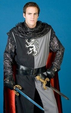 deluxe medieval warrior knight costume, great for a convention, medieval themed wedding, or renaissance faire    #Medieval #Knight #KnightCostume #RenFaire