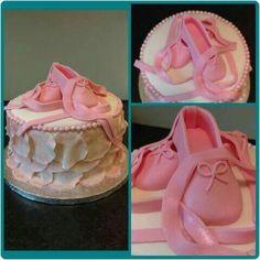 Ballet shoe ruffle cake