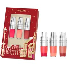 Lancôme 'Juicy Shaker Trio' Christmas gift set ❤ liked on Polyvore featuring beauty products, makeup, lip makeup, lip gloss, lancome cosmetics, lancome makeup, lancôme and lancome beauty products