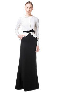 Wool Felt Cashmere Long Skirt by Alberta Ferretti