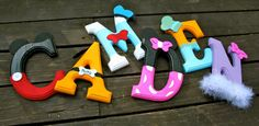 Mickey Mouse Wooden Letters by JoliPetiteBoutique on Etsy, $6.00