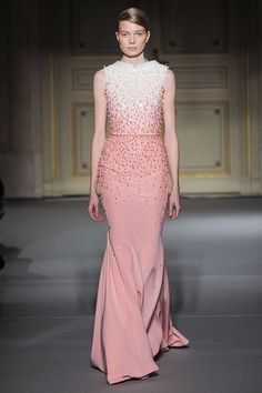 The Romantic Pearls Ombré dress  Georges Hobeika Spring Summer 2013 Paris Couture #Fashion Week #PFW