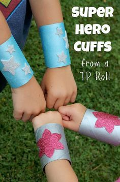 Toilet Paper Roll Crafts - Get creative! These toilet paper roll crafts are a great way to reuse these often forgotten paper products. You can use toilet paper rolls for anything! creative DIY toilet paper roll crafts are fun and easy to make. Toilet Paper Roll Crafts, Paper Crafts, Toilet Paper Rolls, Diy Paper, Paper Art, Superhero Birthday Party, Birthday Crafts, Birthday Parties, Superhero Halloween