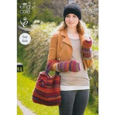 Hat, Bag, Leg and Wristwarmers In King Cole Ultimate (3779) £2.99